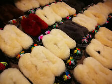 Handmade sheepskin, fur slippers, various sizes and designs