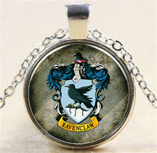 Vintage Harry Potter badge Cabochon Silver Glass Chain Pendant Necklace WN160