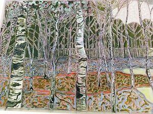 BILLY CHILDISH 'Edge of Wood (Trees)', 2017 SIGNED Ltd. Ed. #6/200 Print **NEW**