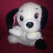 Vtg Mattel Disney 101 Dalmatians Laying Puppy Dog Black White 10in Plush 1996