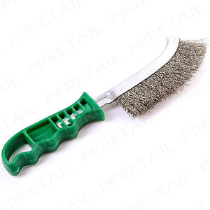 """HEAVY DUTY CURVED STEEL WIRE BRUSH 10"""" Long Rust Paint Metal Remover Hand Tool"""