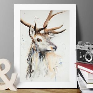 """""""Stag 2 by T.MIKUTEL LTD Edit GICLEE print of my original watercolour A2,A3,A4"""