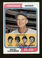 Whitey Lockman #354 signed autograph auto 1974 Topps Baseball Trading Card