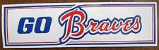 GO BRAVES Bumper Sticker from circa 1960's/1970's (Atlanta)