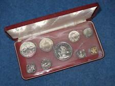 1972 Bahama Islands 9 Coin Silver Proof Set Franklin Mint B8452