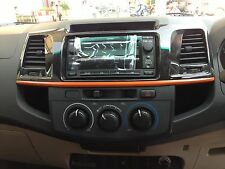Genuine Toyota Fortuner Hilux SR5 MK6 MK7 TRD Black Wooden Center Console Panel