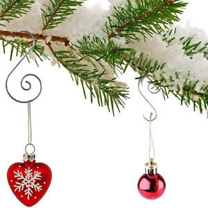 Golden lasenersm 80 Pieces Christmas Tree Ornament Hooks Christmas Ornament Hooks Hanging Metal Hooks for Christmas Tree Party Balls Decorations