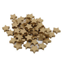 Wooden Star Shape Spacer Wood Beads DIY Accessories Kids Toys Craft JJ