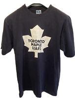 Vintage 90s Blue Toronto Maple Leafs ice hockey t shirt size S Peca 27
