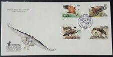 1996 Malaysia Birds of Prey 4v Stamps FDC (Kuala Lumpur Cachet) Best Buy (Lot G)