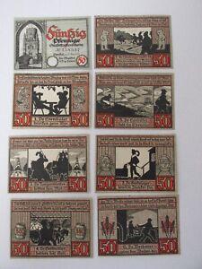 1921 Stendal 50 Pfennig Notes Lot of 8