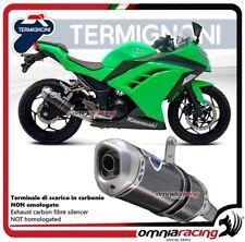Termignoni Pot D'Echappement carbone racing Kawasaki NINJA 300R 12>15