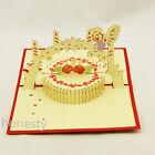 Various 3D Handmade Pop Up Greeting Card Happy Birthday Beauty Cute Gift