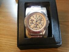 Fossil CH2707 Womens Pale Pink All Aluminum Analog Dial Quartz Genuine Watch