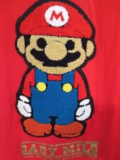 Vintage Rare Bape A Bathing Ape Japan Baby Milo Mario Logo T Shirt Red Medium