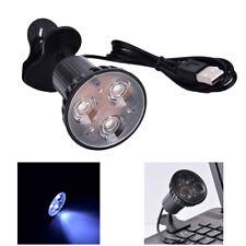 Flexible Super Bright 3 LED Clip On Spot USB Light Lamp For Laptop PC Notebook))