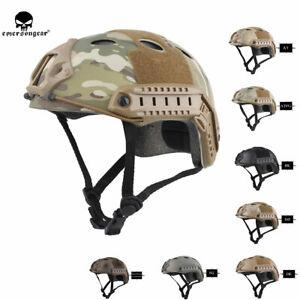 Emerson Tactical Fast Helmet PJ Bump Jump Helmet Bike Headwear +Side Rail Shroud