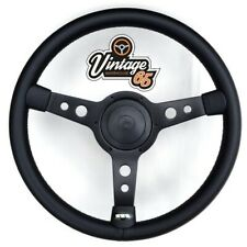 "Vw Transporter T3 T25 Camper 15"" Steering Wheel & Boss Horn Kit Satin Black"