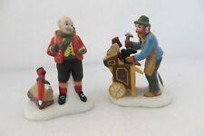 """Cobbler & Clock Peddler"" Dept. 56 Dickens Village Accessories 58394 - Mib"