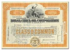 Bolsa Chica Oil Corporation Stock Certificate (California)