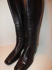 Bally 'LAUSA' 36 1/2.. SIZE US 6 Thick Black All Leather Zip-Up Boots