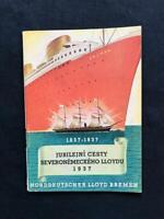 OCEAN LINER NORDDEUTSCHER LLOYD ART DECO BROCHURE BOOK 1937 Steamship Cruise