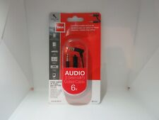 RCA Audio 3.5mm Mp3 Coiled Cable 6ft/1.8m Built in Mic AH208CMICR