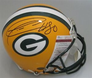 Packers DONALD DRIVER Signed Riddell Full Size Replica Helmet AUTO - JSA