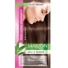 Marion Hair color shampoo sachet (lasting 4-8 washes) Aloe & Keratin 52