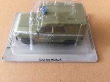 "DIE CAST "" UAZ 469 MILICJA "" AUTO DELL' EST SCALA 1/43"