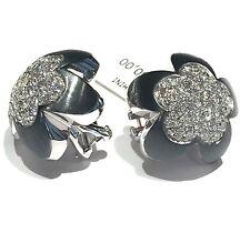 orecchini CRIVELLI in oro bianco 18 kt con diamanti ct 1,78 con brunitura