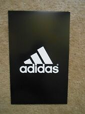 "Adidas Poster Store Advertising Display Double Sided Thin Cardboard Sign 14""x22"""