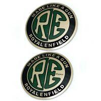 RE Logo Tank Aufkleber-Abzeichen-Emblem Set Adhesive Passend für Royal Enfield K