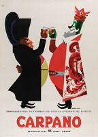 Original Vintage Poster - Testa - Carpano - Vermouth - Alcohol - Napoléon - 1954