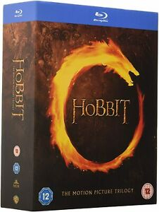 "THE HOBBIT TRILOGY PETER JACKSON BOX SET 6 DISC BLU-RAY REG B ""NEW&SEALED"""