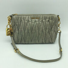 Miu Miu Grey Leather Matelasse Small Shoulder Bag 67935d872715f
