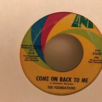 THE  FOUNDATIONS        45 SINGLE,   BABY , NOW THAT IVE FOUND YOU