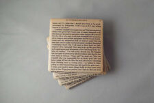 Hobbit Book Page Tile Coasters. Felt Backed, Set of Four, Finished with Twine