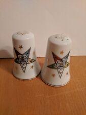 Vintage Masonic Eastern Star Salt & Pepper Set OES