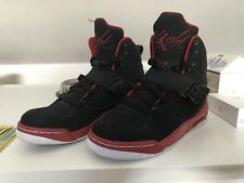 Nike Air Jordan Flight 45 High IP BG Baskets Montantes Taille UK 4 Noir/Rouge
