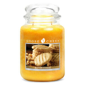 Goose Creek Double Wick Large Candle Jar - Butter Cookie