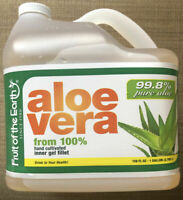 1 gallon 128 oz 99.8% Pure Aloe Vera from 100% hand cultivated inner gel fillet