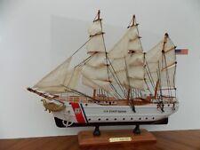 """15"""" COAST GUARD Military BARQUE EAGLE CG Model Ship w/Music Box """"Semper Paratus"""""""