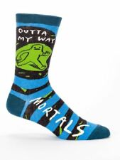 Men's Crew Socks, Outta My Way Blue Q Cotton Funny Novelty Father's Day Gift