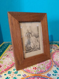 SMALL RECLAIMED VINTAGE TEAK PICTURE FRAME FROM INDIA