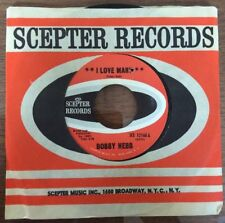 "BOBBY HEBB ~ I Love Mary  ~ 1966 Scepter Records   7"" vinyl 45rpm  SOUL"