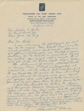 52nd Troop Carrier Wing HAROLD L. CLARK Autograph Letter Signed