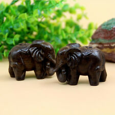 Wooden Elephant Ornament Gift Boxed Figurine Buddism Meditation Sculpture