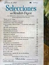 Revista Selecciones del Reader´s Digest vintage - feb 1961 España - publicidad