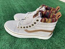 VANS SK8 Hi MTE All Weather Gray Flannel Print Shoe - M 8 / W 9.5
